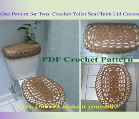 One Pattern for Two - Toilet Seat Cover & Toilet Tank Lid Cover (6VC2012)