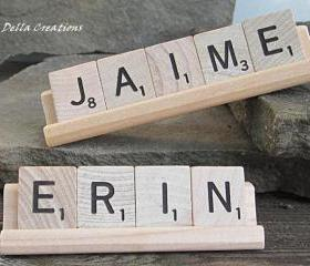 Personalized Scrabble Desk Sign - 3 to 5 Letters