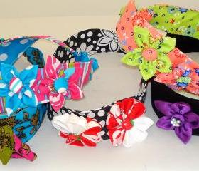 Girls Headband Pattern Bundle, DIY Fabric Flowers, PDF Pattern