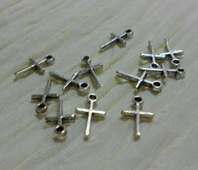 Tiny Silver Crosses