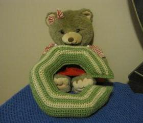 Crochet Neck Pillow - Medium Size -Tea leaf/Buff - CNP1 Sorry-SOLD