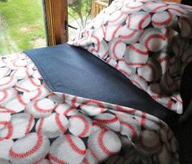 Baseball Dreams for Boys : Cozy Fleece Bedding Fits Cribs & Toddler Beds