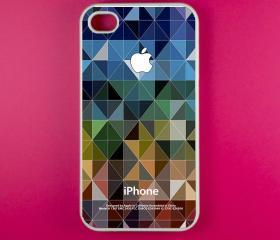 Iphone 4 Case - Geometric Pattern Iphone 4s Case, Iphone Case, Iphone 4 Cover