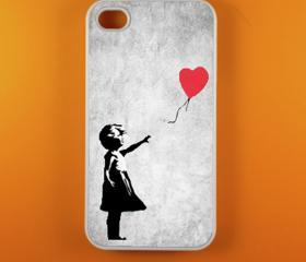 Iphone 4 Case - Banksy Balloon Iphone 4s Case, Iphone Case, Iphone 4 Cover
