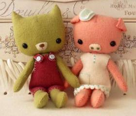 Pocket Pals - Piggy and Kitty PDF Pattern