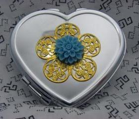 Heart Compact Mirror 