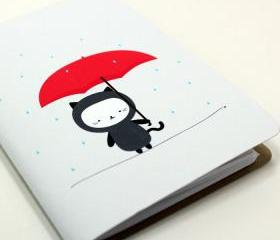Raining Kitty Pocket Notebook