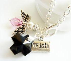 Swarovski Angel Cross and Wish Silver Bracelet