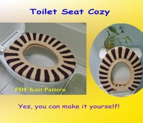 Knit Pattern - Toilet Seat Cozy (18VC2012)
