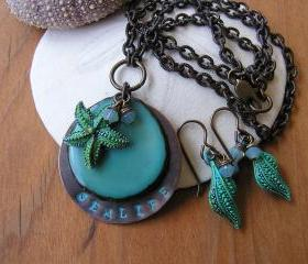 Sealife Necklace and Earring Set