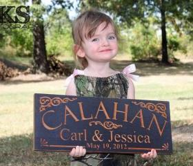 Personalized Sign, Family Last Name Sign Established Custom Wood Sign Wooden Sign Sign For Business, 7 x 18 C