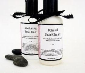 Combo Creamy Botanical Cleanser and Facial Toner 4 oz You Pick The Scent