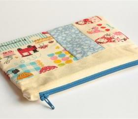Patchwork Pouch - Babushkas and friends.