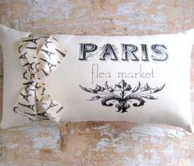 Paris Pillow, French Decor, Cottage, French Country Home