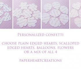 200 Personalised Text Confetti - Choice of 4 shapes - Great for Weddings, Invites, Decor, Favours
