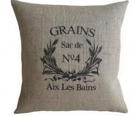 Vintage French Grain Sack Pillow Cover