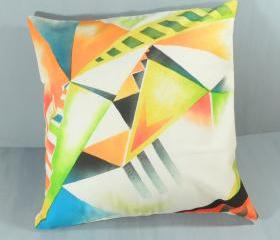 Modern bright geometric pillow
