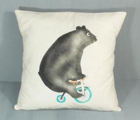 Comedy circus bear cushion