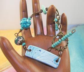 Lovely Aqua Bracelet