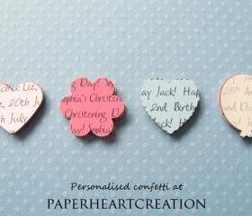 500 Personalised Confetti - Choice of 4 shapes, 12 Colours of Card - Great for Special Occassions