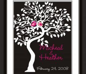 Wedding signature Tree-guest book alternative 18x24 100 signatures