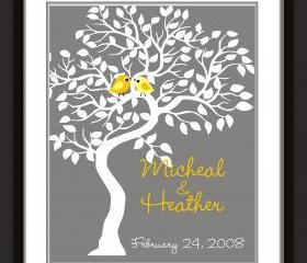 Wedding signature tree-guestbook alternative 16x20 holds 75 signatures