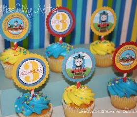 Thomas the Train - Cupcake Toppers