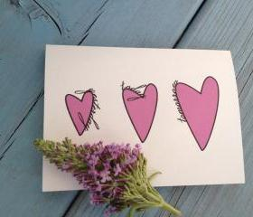 Growing Love 4 X 5.5 in Card with Envelope