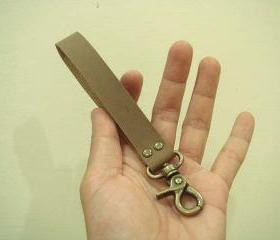 Handmade Leather Key Fob ( Brown )