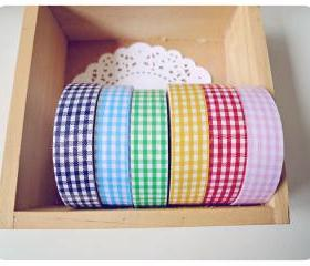 Gingham Fabric Tape