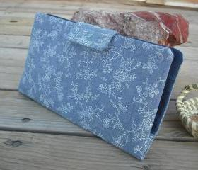 SALE Denim N Flowers handmade women's bifold wallet