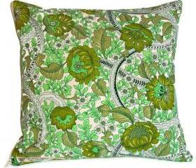 Vintage 1960s Burgess Ledward Frome cotton cushion cover with zip fastening 35cm