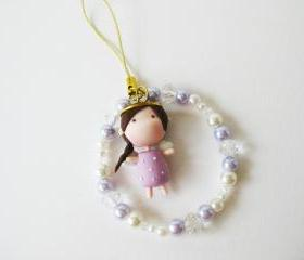 Mantou Angel Keychain Clay ( Purple )
