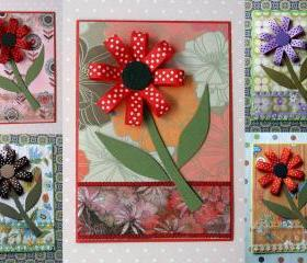 Blank Card - Blooming Flowers (set of 5) - Best Seller