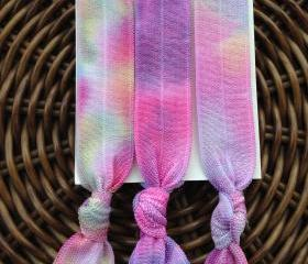 3 Bright Tie Dye Elastic Hair Ties (and bracelets)