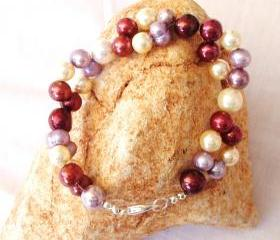 Multi Colour Shell Pearl Bracelet Handmade Jewelry