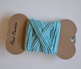 Hand-dyed Solid 100% Cotton Twine / Teal