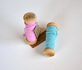 Two Spools of Hand dyed Solid 100% Cotton Twine
