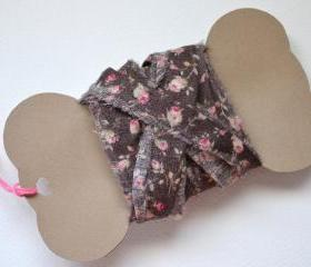 Fabric Ribbon, Floral Cotton Fabric