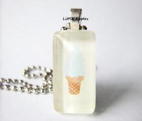 Ice Cream Rectangle Glass Tile Pendant Toy Box