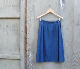 1970s Denim Wrap Skirt