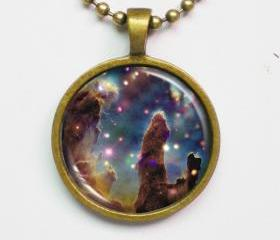 Interstellar Necklace - Pillars of Creation - Outer Space Image - Galaxy Series