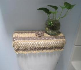 Crochet Tank Lid Cover, Cozy for Toilet Tank Lid - Topaz/moonstone (TTL6)