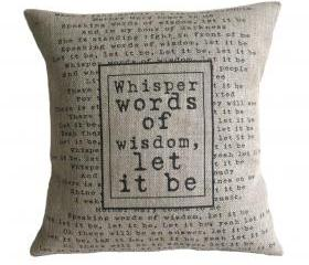 'Let It Be' Pillow Cover