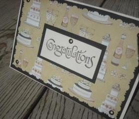   SALE   Handmade Wedding Congratulations greeting card