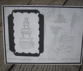 ➽ ➽ SALE ➽ ➽ Handmade Romantic Wedding Congratulations greeting card