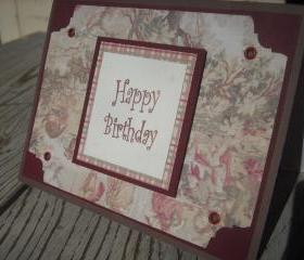 ➽ ➽ SALE ➽ ➽ Hand crafted 3D Birthday greeting card
