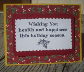   SALE   Hand crafted Christmas card