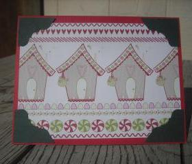 ➽ ➽ SALE ➽ ➽ Hand crafted Christmas Joy card, Handmade Christmas Joy card