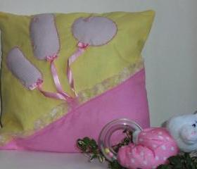 Decorative cover for pillows for baby girl - 12 x 12